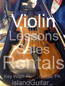 violin, cello,  guitar, BASS, drums, ukulele, & piano lessons & music instruction Key West