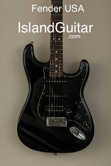 Fender Usa Black On Black With Rosewood Fretboard With