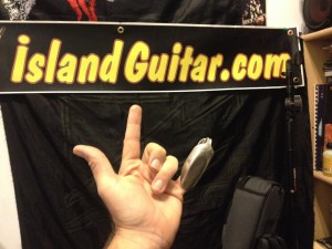 Custom Silver Spoon Slide @ Island Guitar & Ukulele Music Lesson Studio in Key West
